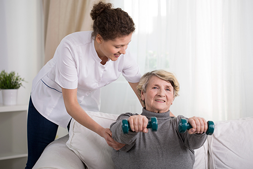 Stroke recovery weight training